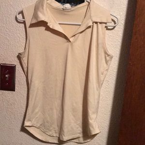Women's Studio Y light yellow szmed sleeveless top